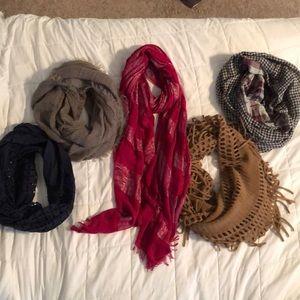 Accessories - 5 fall/winter scarf bundle